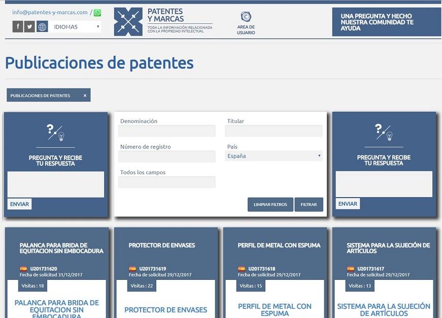 publicaciones de patentes