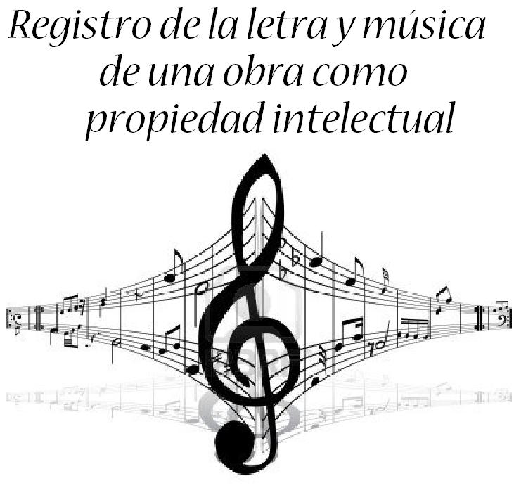 letra y musica de una cancion propiedad intelectual