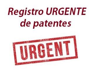 registro urgente de patentes