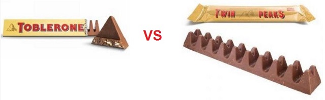 HAY COPIA TOBLERONE VS TWIN PEAKS