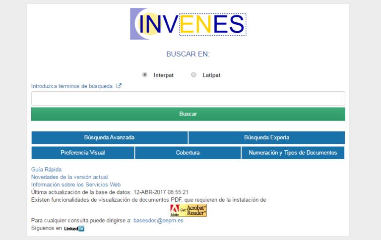 buscador de patentes INVENES