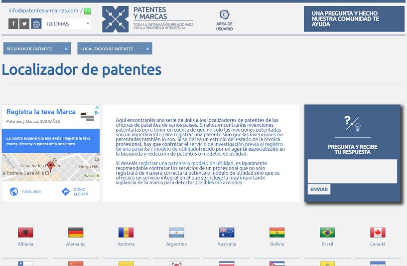 directorio localizador de patentes