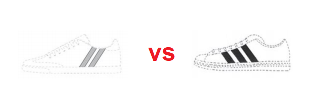Shoe Branding vs ADIDAS