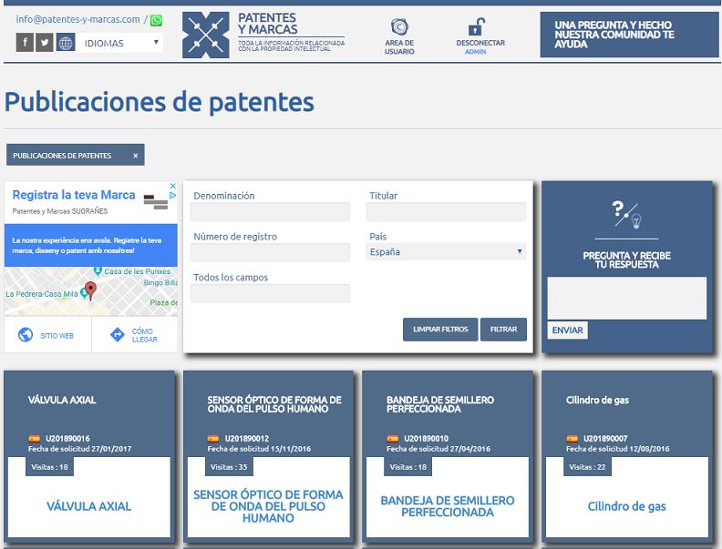 publicaciones patentes