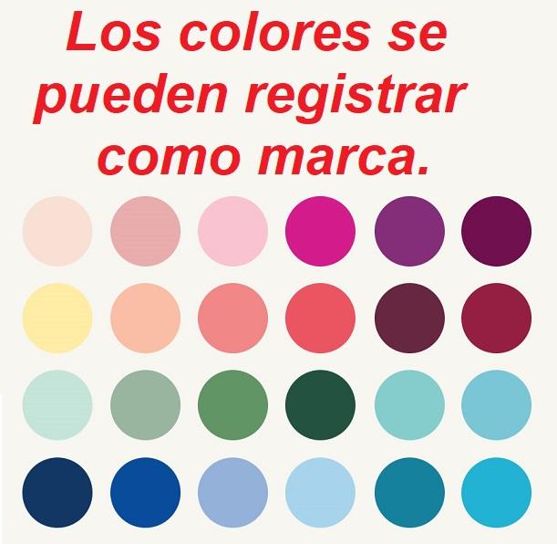 Los colores se pueden registrar como marca