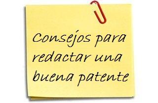 consejos para redactar una patente