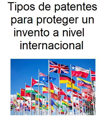 Tipos de patentes para proteger un invento a nivel internacional